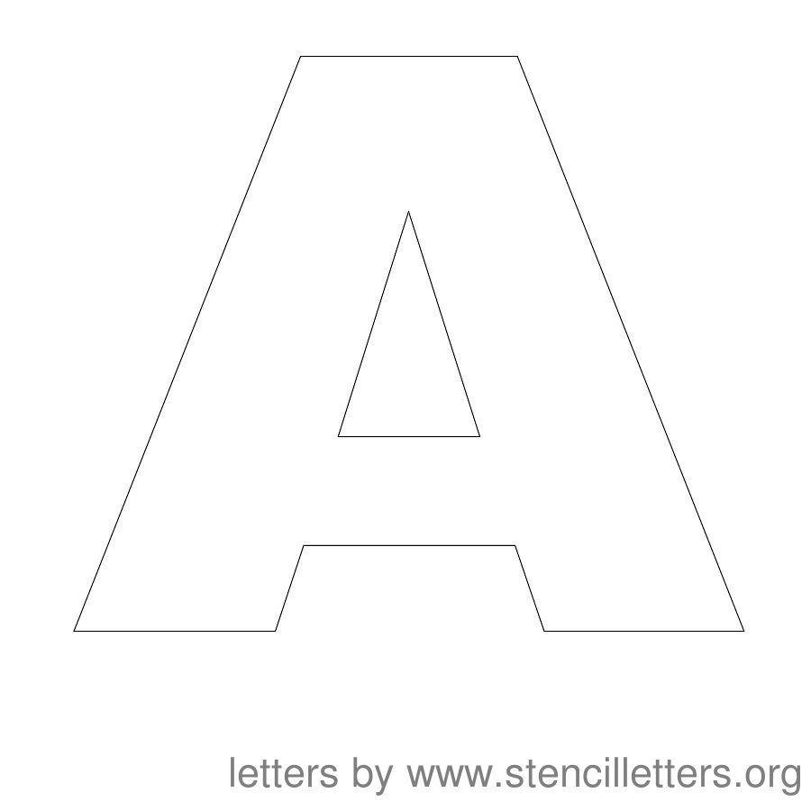 Free Printable Letter Stencils   Stencil Letters 12 Inch Uppercase - Free Printable 10 Inch Letter Stencils