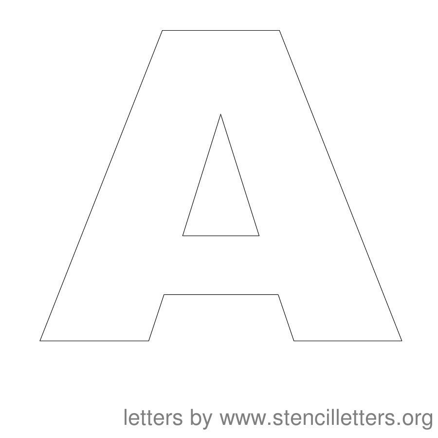 Free Printable Letter Stencils | Stencil Letters 12 Inch Uppercase - Free Printable 12 Inch Letter Stencils