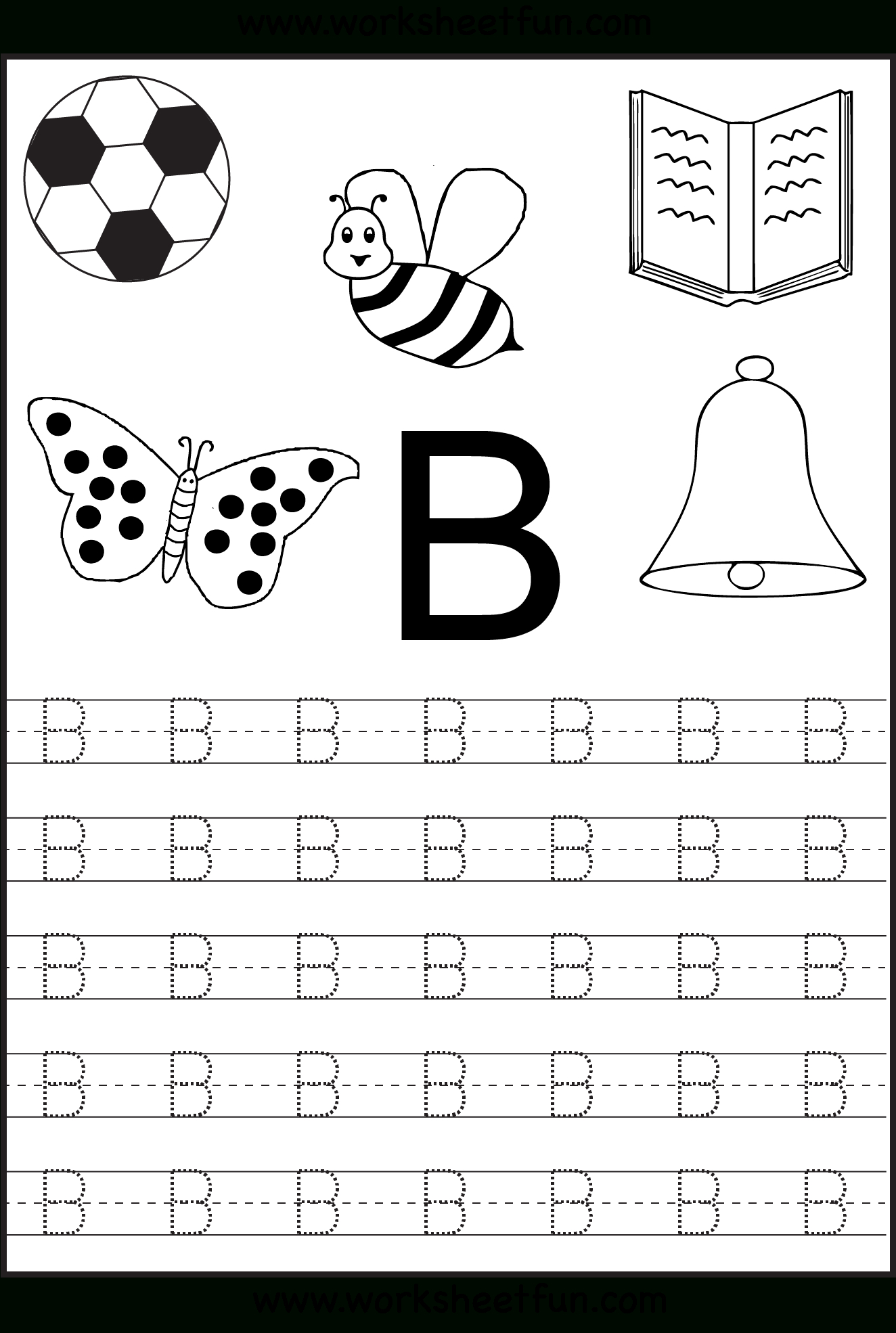 Free Printable Letter Tracing Worksheets For Kindergarten – 26 - Free Printable Alphabet Worksheets For Kindergarten