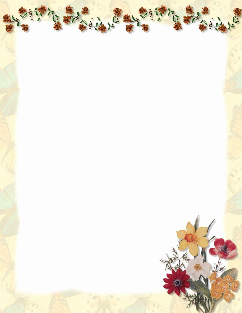 Free Printable Letterhead Borders Http Www 1 Computer Stationery Com - Free Printable Letterhead Borders