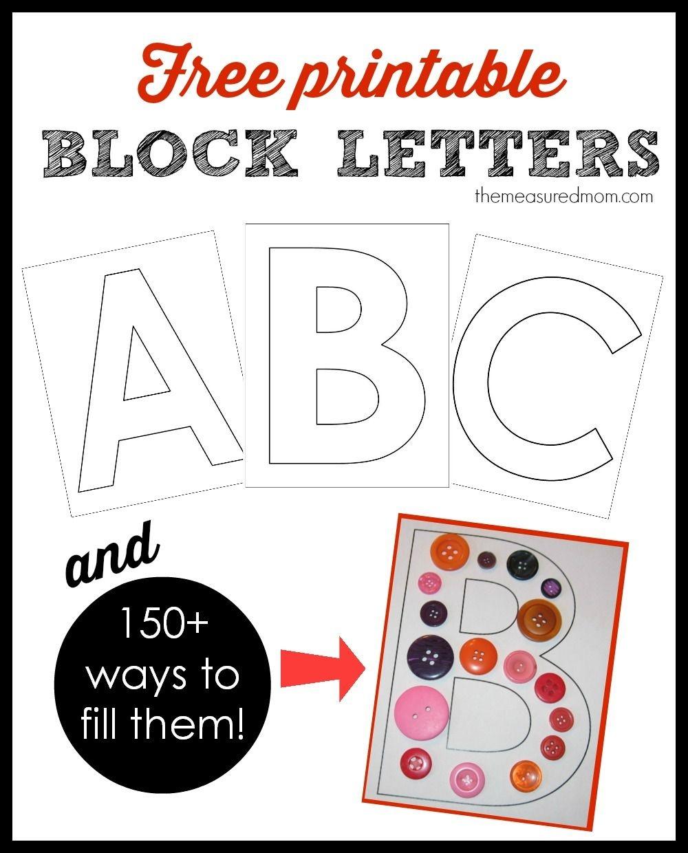 Free Printable Letters In Lowercase | 4Yr Old Prek | Alphabet - Free Printable Block Letters