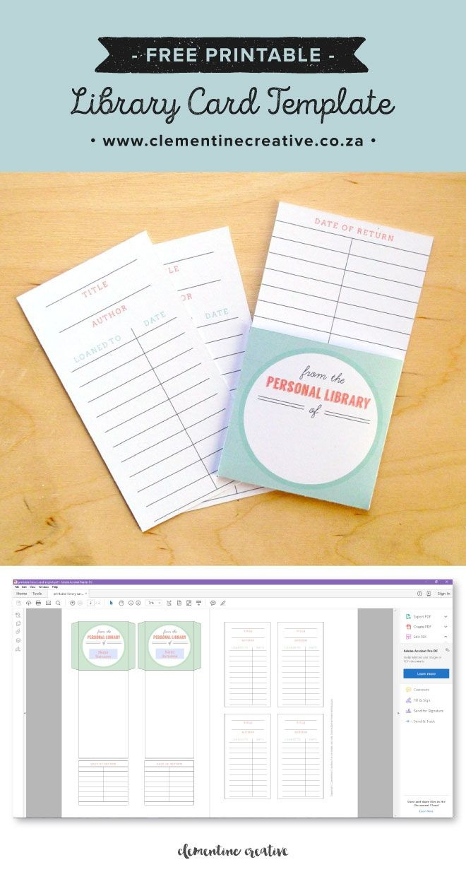 Free Printable Library Cards | Printables | The Best Downloads - Free Printable Personal Cards