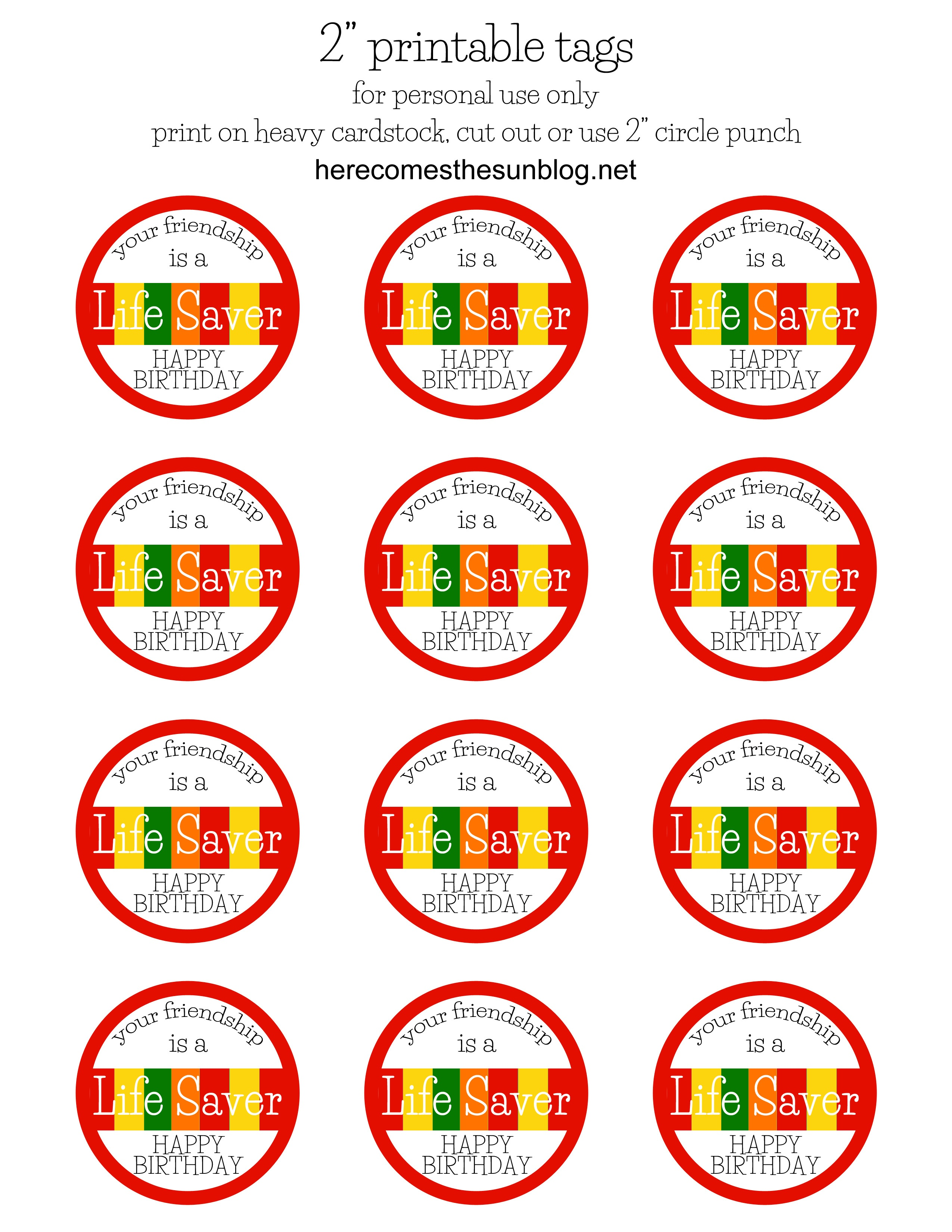 Free Printable Lifesaver Tags Printable Lifesaver Tags - All Free - Free Printable Lifesaver Tags