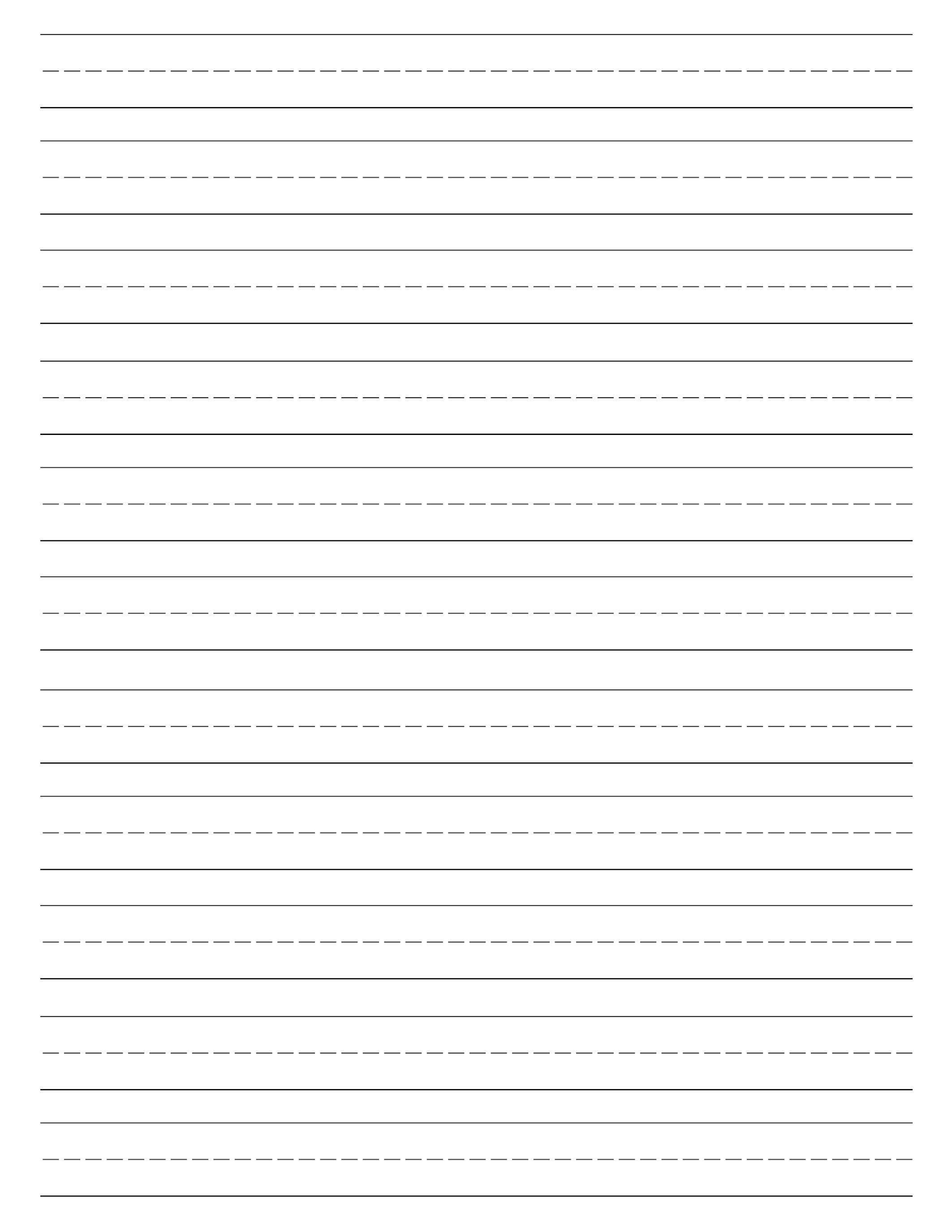 Free Printable Lined Paper {Handwriting Paper Template} | Preschool - Elementary Lined Paper Printable Free