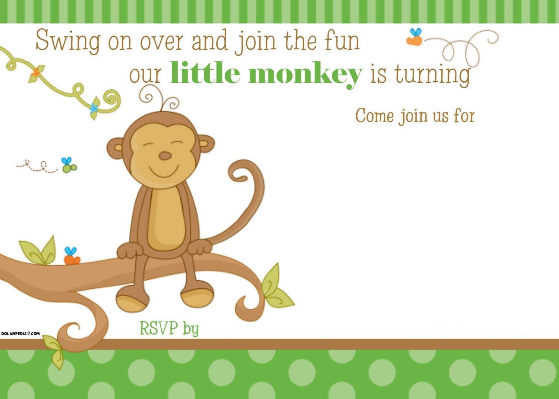 Free Printable Little Monkey Birthday Invitation   Free Printable - Jungle Theme Birthday Invitations Free Printable
