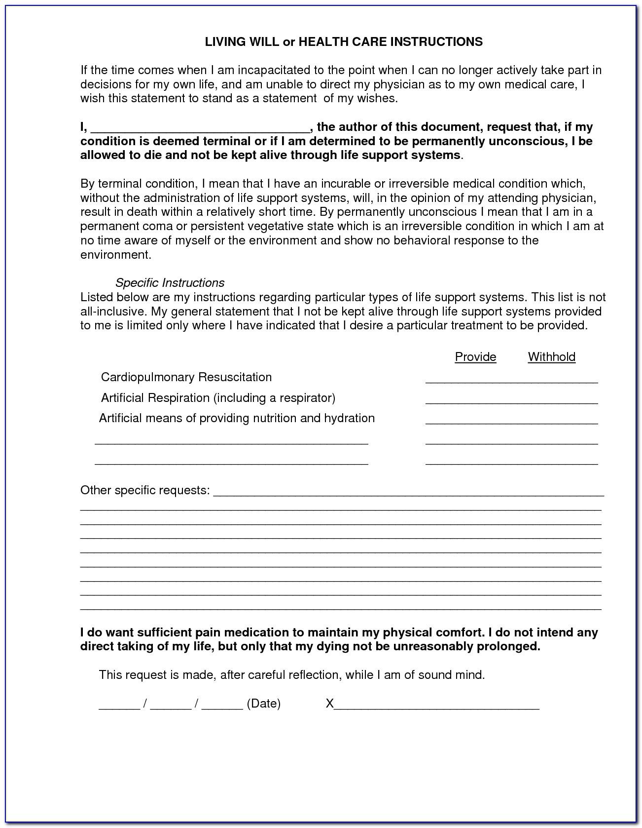 Free Printable Living Will Forms Oklahoma - Form : Resume Examples - Living Will Forms Free Printable