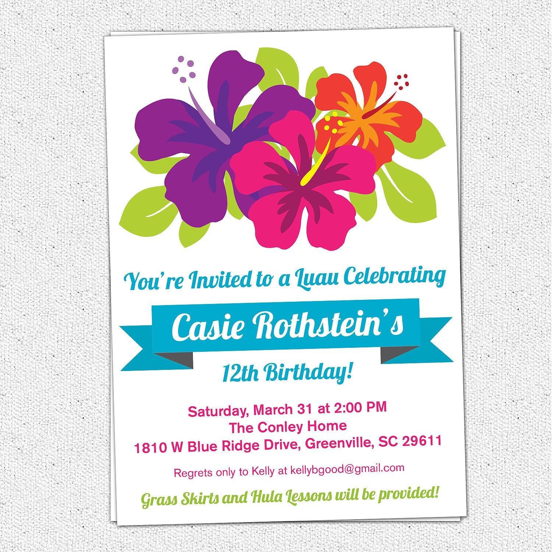 Free Printable Luau Birthday Invitations Templates | Elma In 2019 - Hawaiian Party Invitations Free Printable