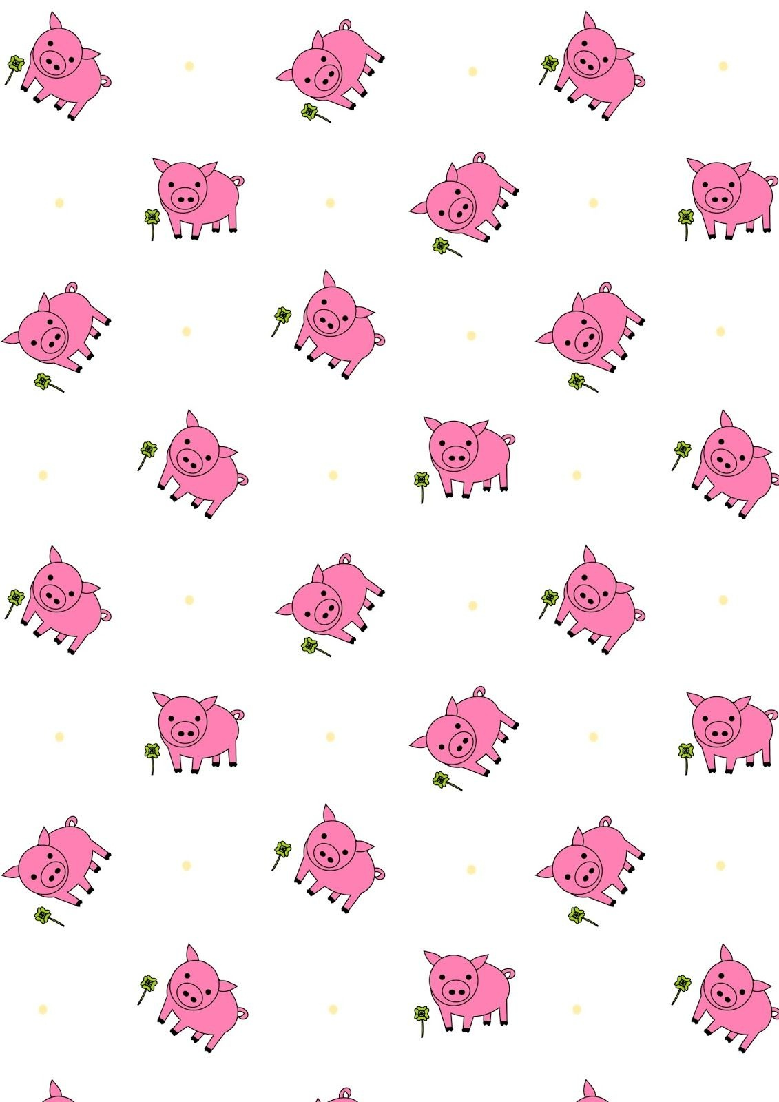 Free Printable Lucky Pig Pattern Paper   Digi Papers Some Free - Free Printable Pattern Paper Sheets