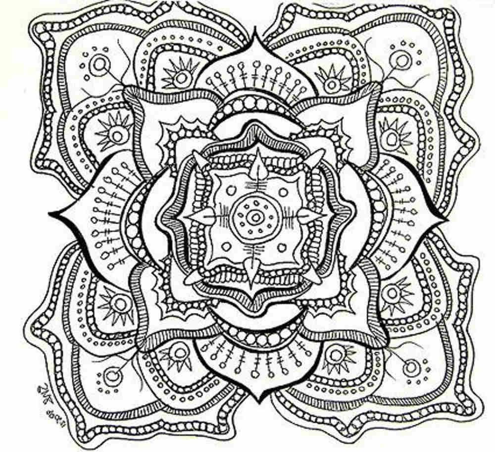 Free Printable Mandala Coloring Pages For Adults | Adult Coloring - Mandala Coloring Free Printable