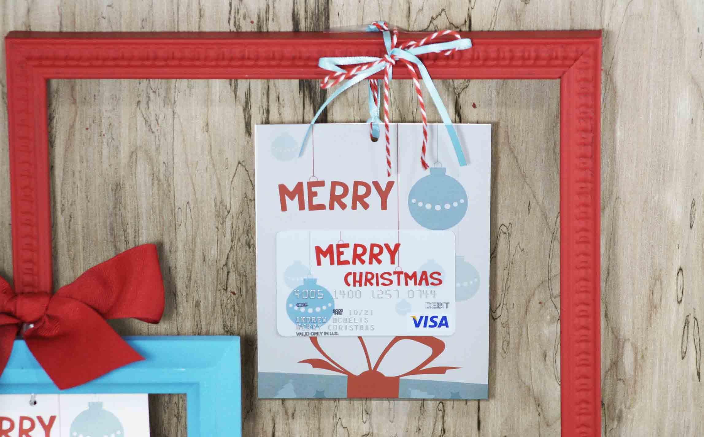 Free Printable} Merry Christmas Gift Card Holder| Gcg - Free Printable Christmas Cards With Photo Insert
