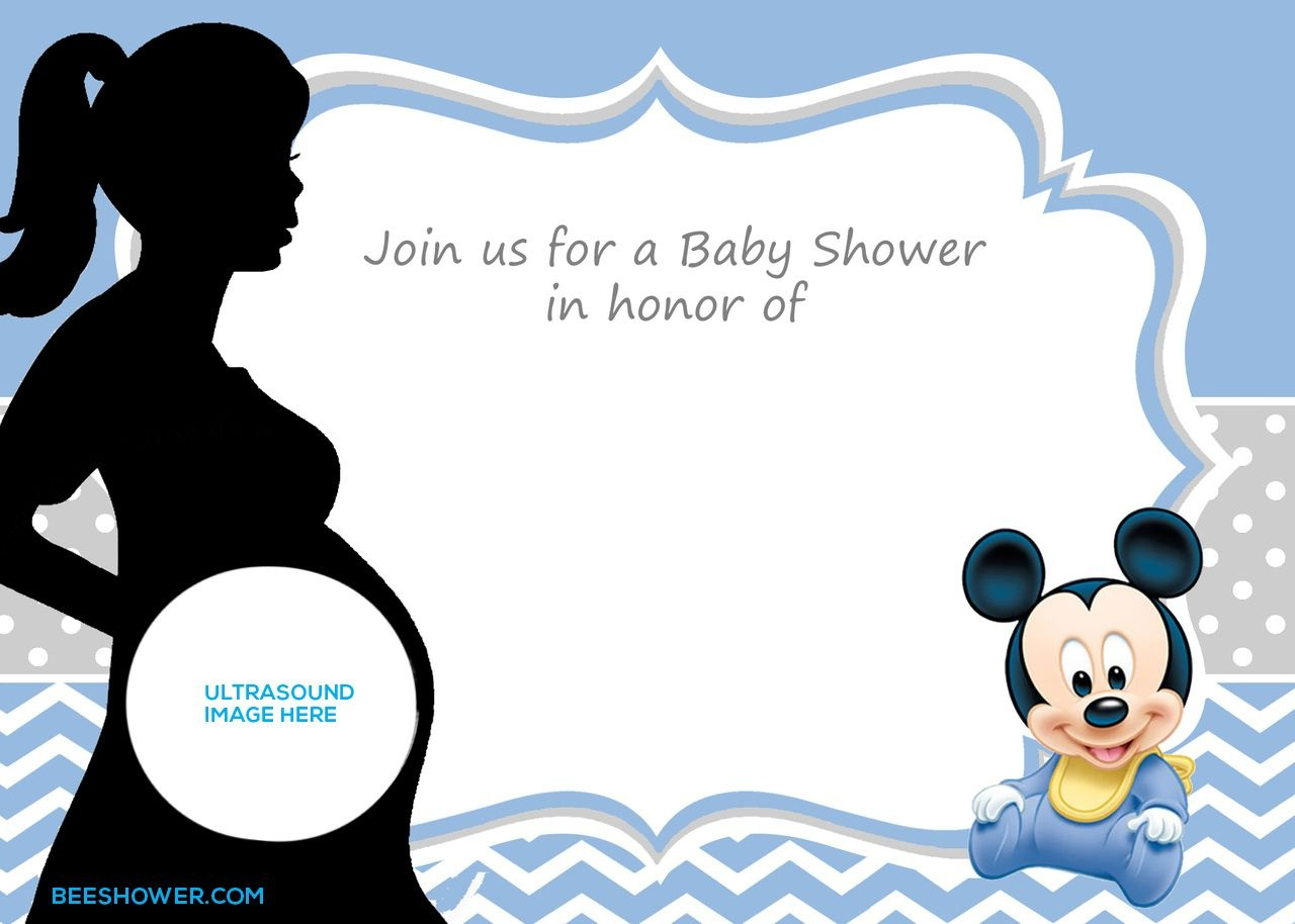 Free Printable Mickey Mouse Baby Shower Invitation Template | Baby - Free Baby Shower Invitation Maker Online Printable