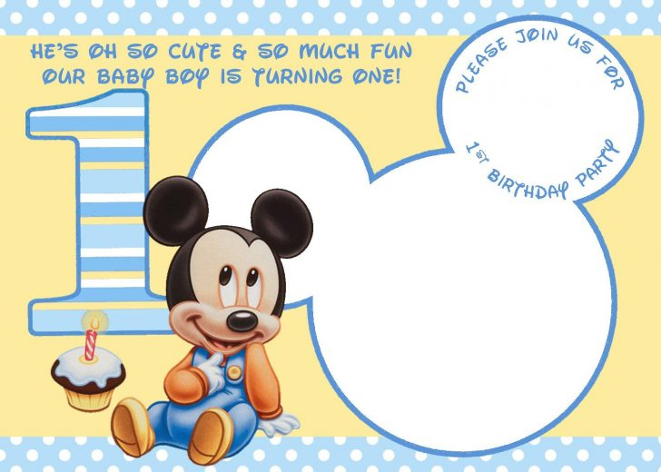 Free Printable Baby Mickey Mouse Birthday Invitations