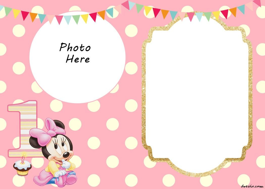 Free Printable Minnie Mouse 1St Invitation Templates   Miney Mouse - Free Printable Minnie Mouse Party Invitations