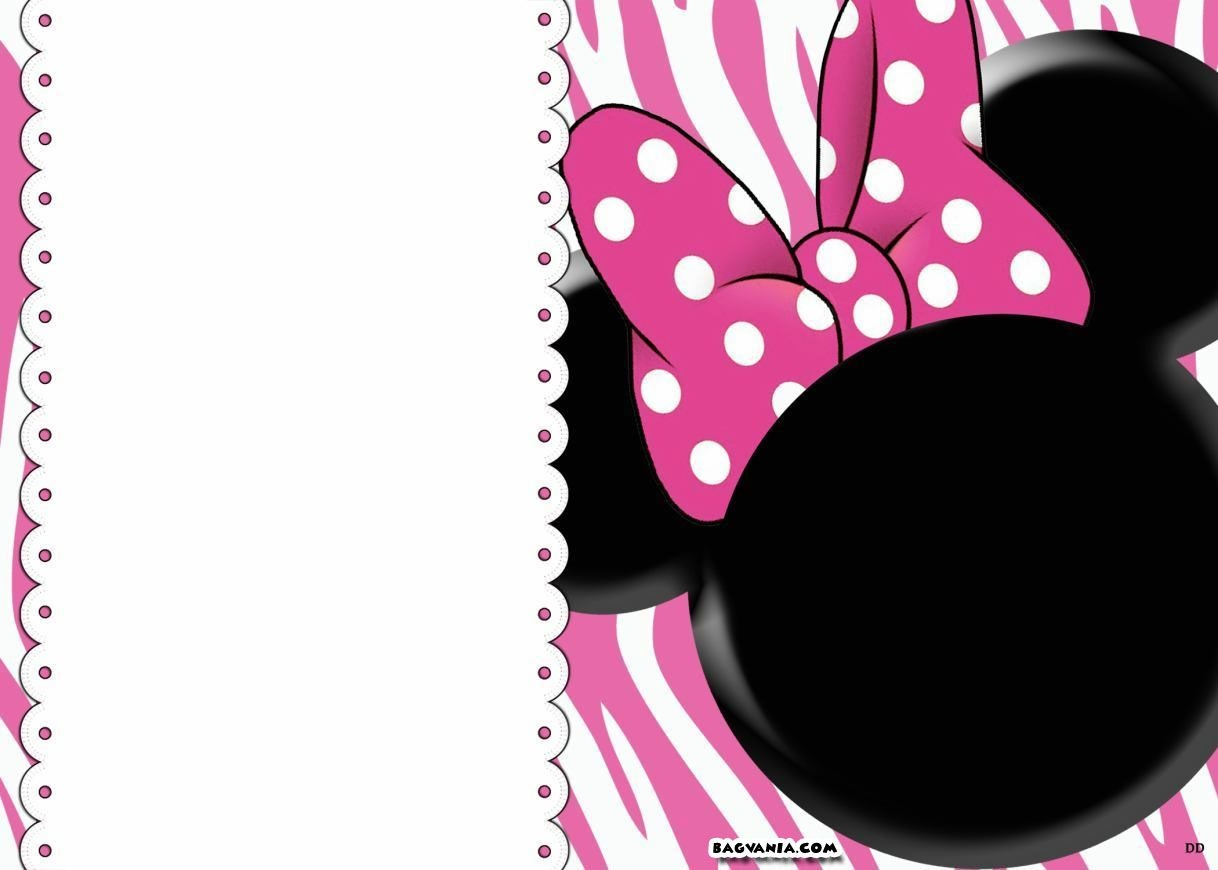 Free Printable Minnie Mouse Birthday Invitations – Bagvania Free - Free Printable Minnie Mouse Invitations