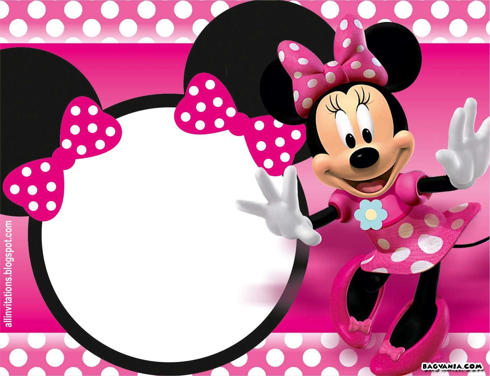 Free Printable Minnie Mouse Birthday Invitations – Bagvania Free - Free Printable Minnie Mouse Party Invitations