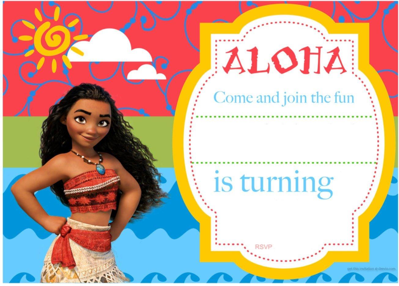 Free Printable Moana Birthday Invitation And Party   Free - Free Printable Moana Invitations