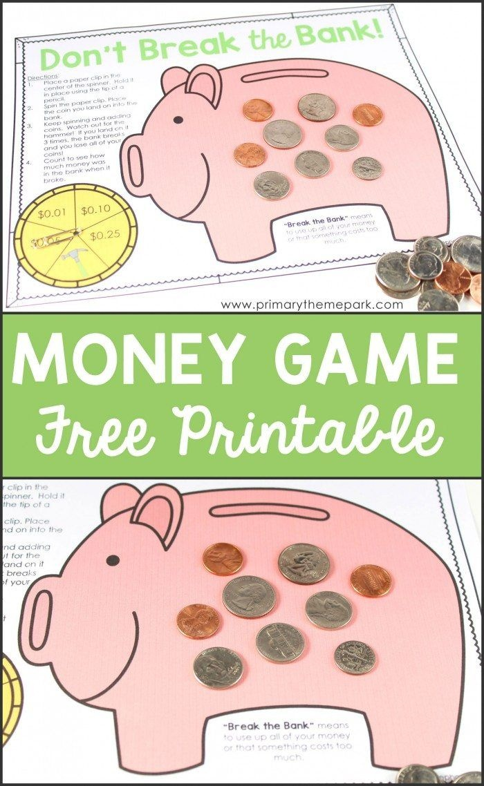 Free Printable Money Game | Homeschool | Money Activities, Second - Free Printable Game Money