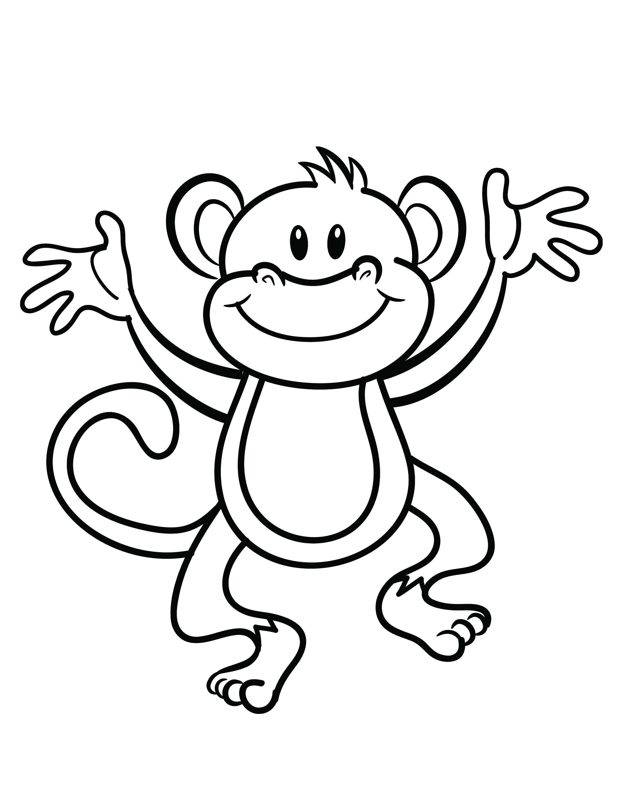 Free Printable Monkey Coloring Page | Cj 1St Birthday | Monkey - Free Printable Monkey Coloring Pages