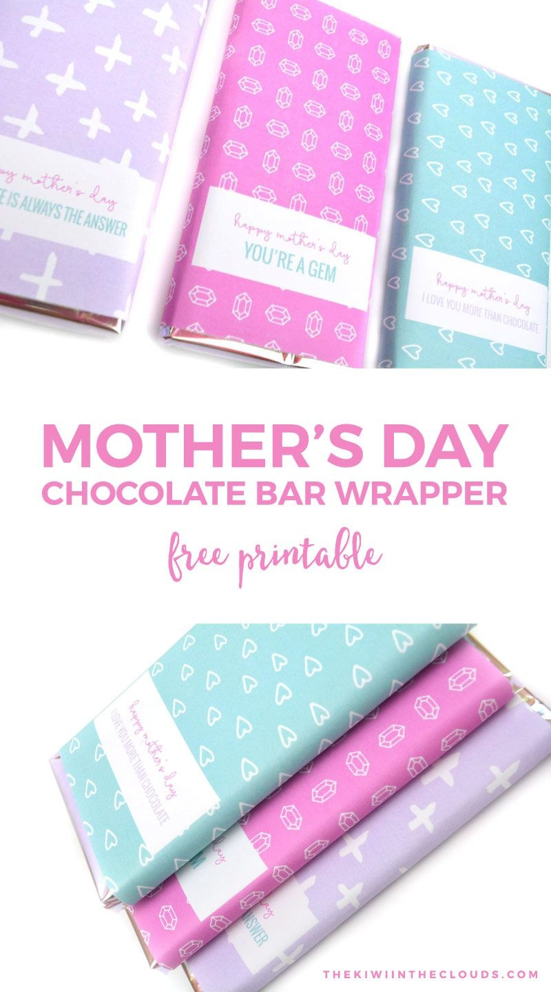 Free Printable Mothers Day Candy Bar Wrappers   Printables   Mothers - Free Printable Chocolate Wrappers