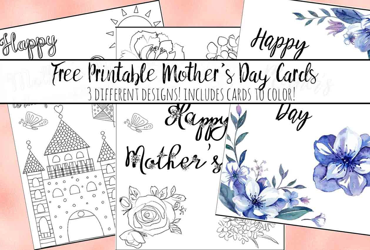 Free Printable Mother's Day Cards (Some Of Them You Can Color!) - Free Printable Cards To Color