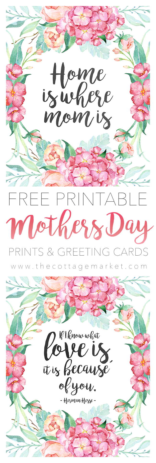 Free Printable Mother's Day Cards - The Cottage Market - Free Printable Mothers Day Cards