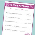 Free Printable Mother's Day Interview For Kids   No Time For Flash Cards   Free Printable Mother's Day Questionnaire
