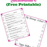 Free Printable Mother's Day Questionnaire & Portrait Page | Best   Free Printable Mother's Day Questionnaire