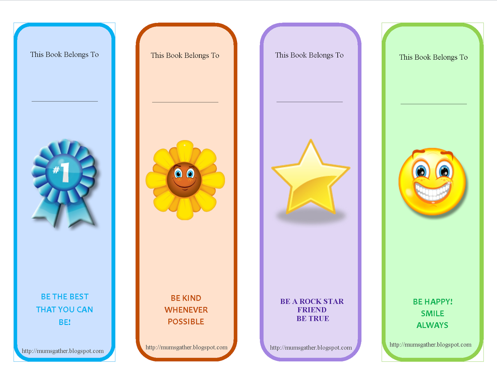 Free Printable Motivational Quotes Bookmark For Kids | Classroom - Free Printable Bookmarks Templates