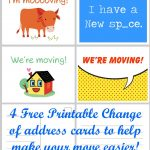 Free Printable Moving Announcement Change Of Address Card – Premier   Free Printable Change Of Address Cards