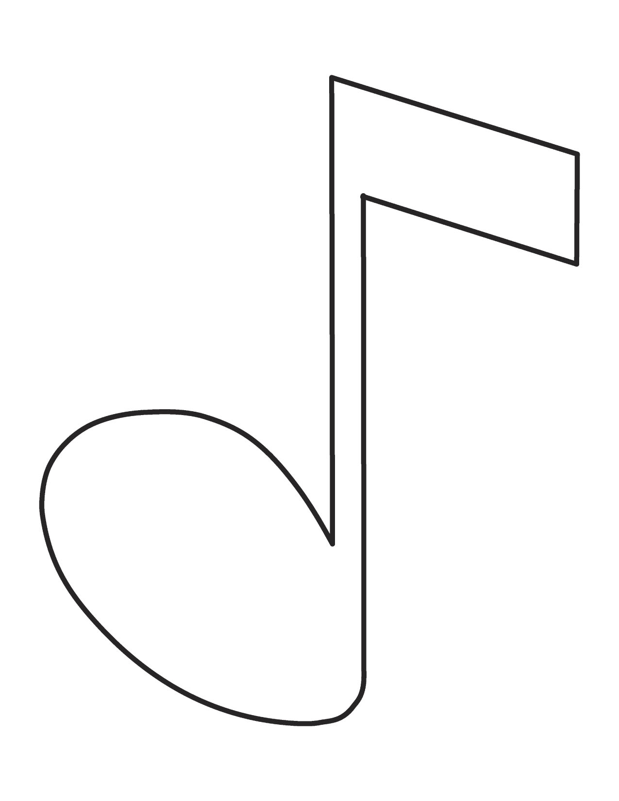 Free Printable Music Note Coloring Pages For Kids - Clip Art Library - Free Printable Music Notes Templates