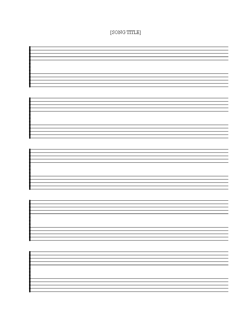 Free Printable Music Staff Sheet 5 Double Lines   Templates At - Free Printable Music Staff
