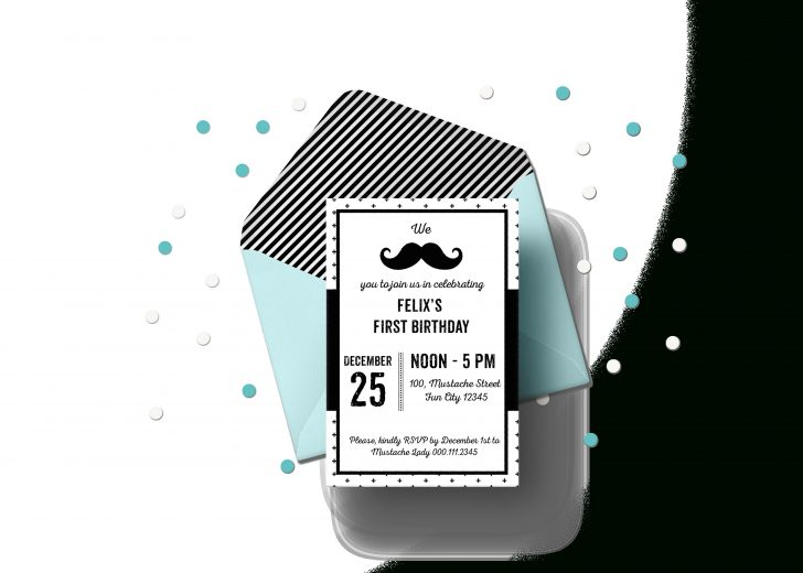 Free Printable Mustache Invitations