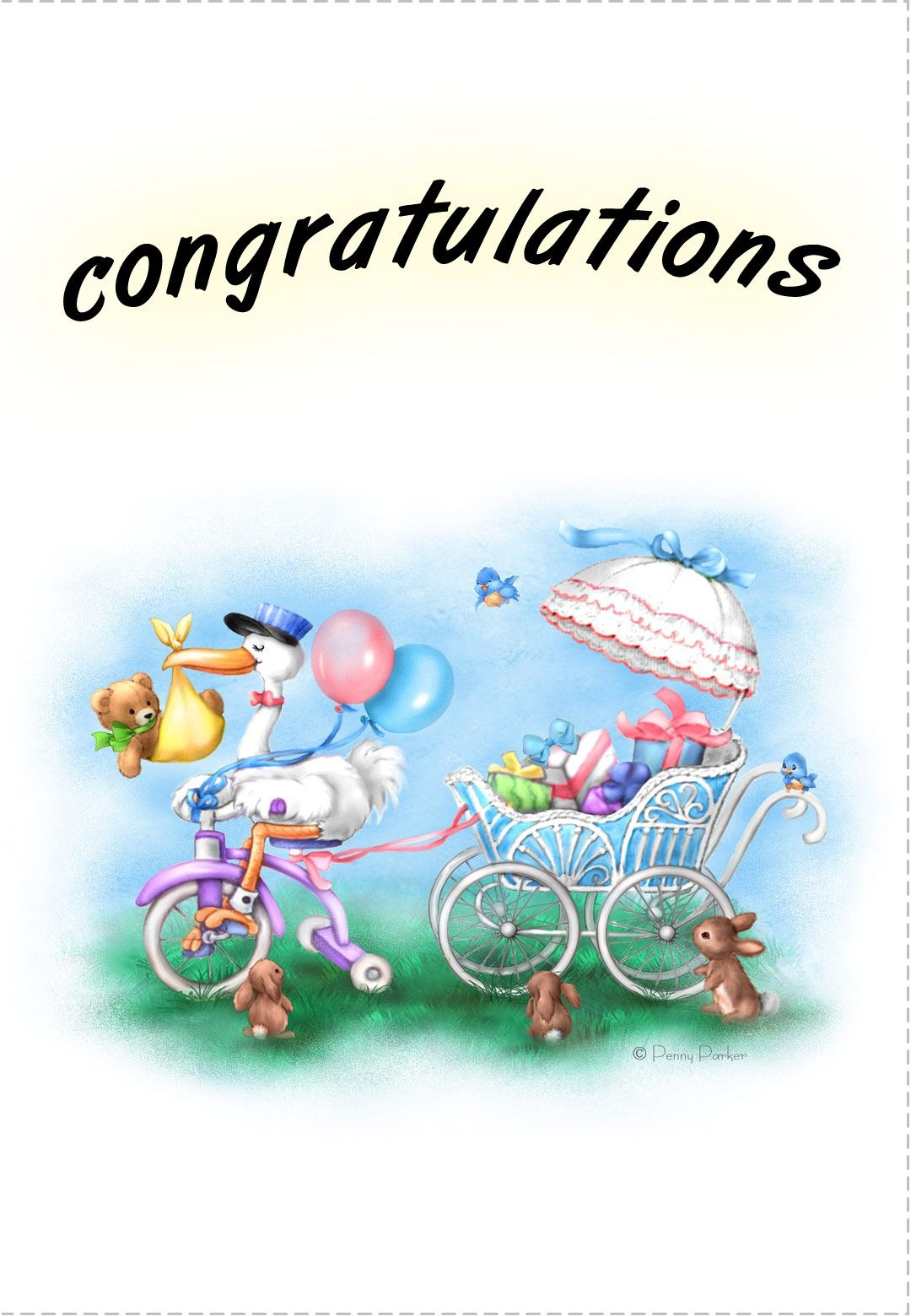 Free Printable New Baby Congratulations Greeting Card   Quotes - Free Printable Congratulations Baby Cards