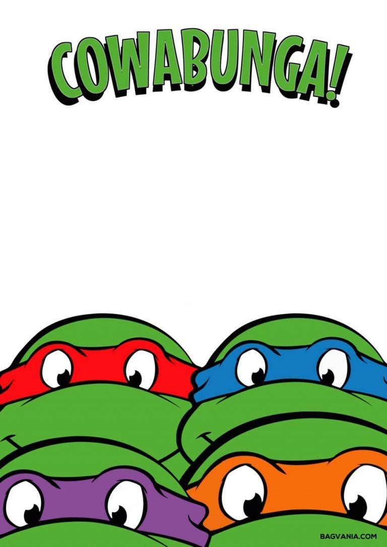 Free Printable Ninja Turtle Birthday Party Invitations – Bagvania - Free Printable Tmnt Birthday Party Invitations