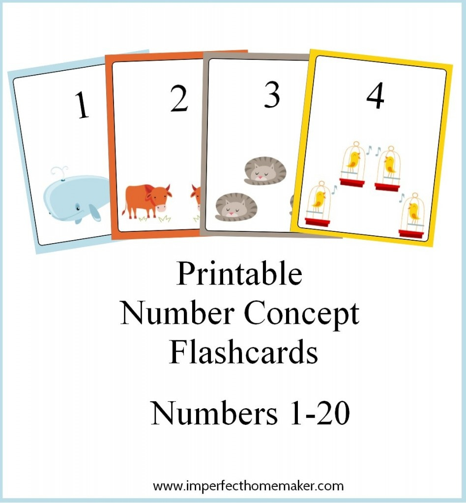 Free Printable Number Concept Flashcards - How To Homeschool For Free - Free Printable Number Cards