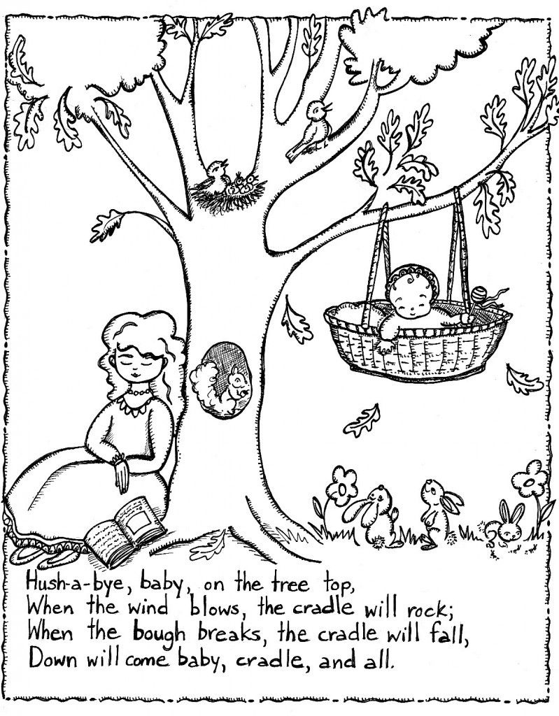 Free Printable Nursery Rhymes Coloring Pages For Kids | Rhyming - Free Printable Nursery Rhymes