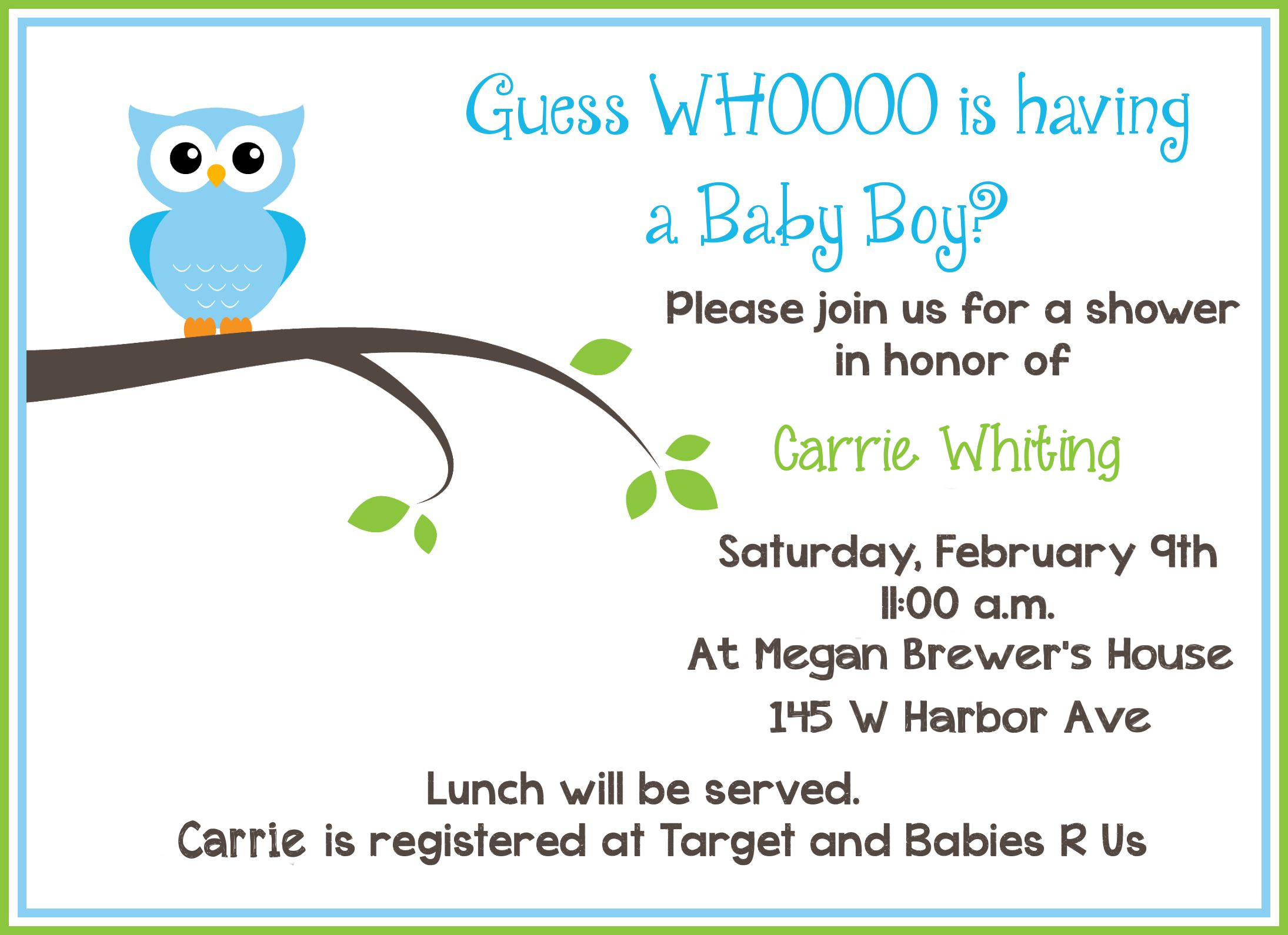 Free Printable Owl Baby Shower Invitations   Owl Let You In If You - Baby Shower Cards Online Free Printable