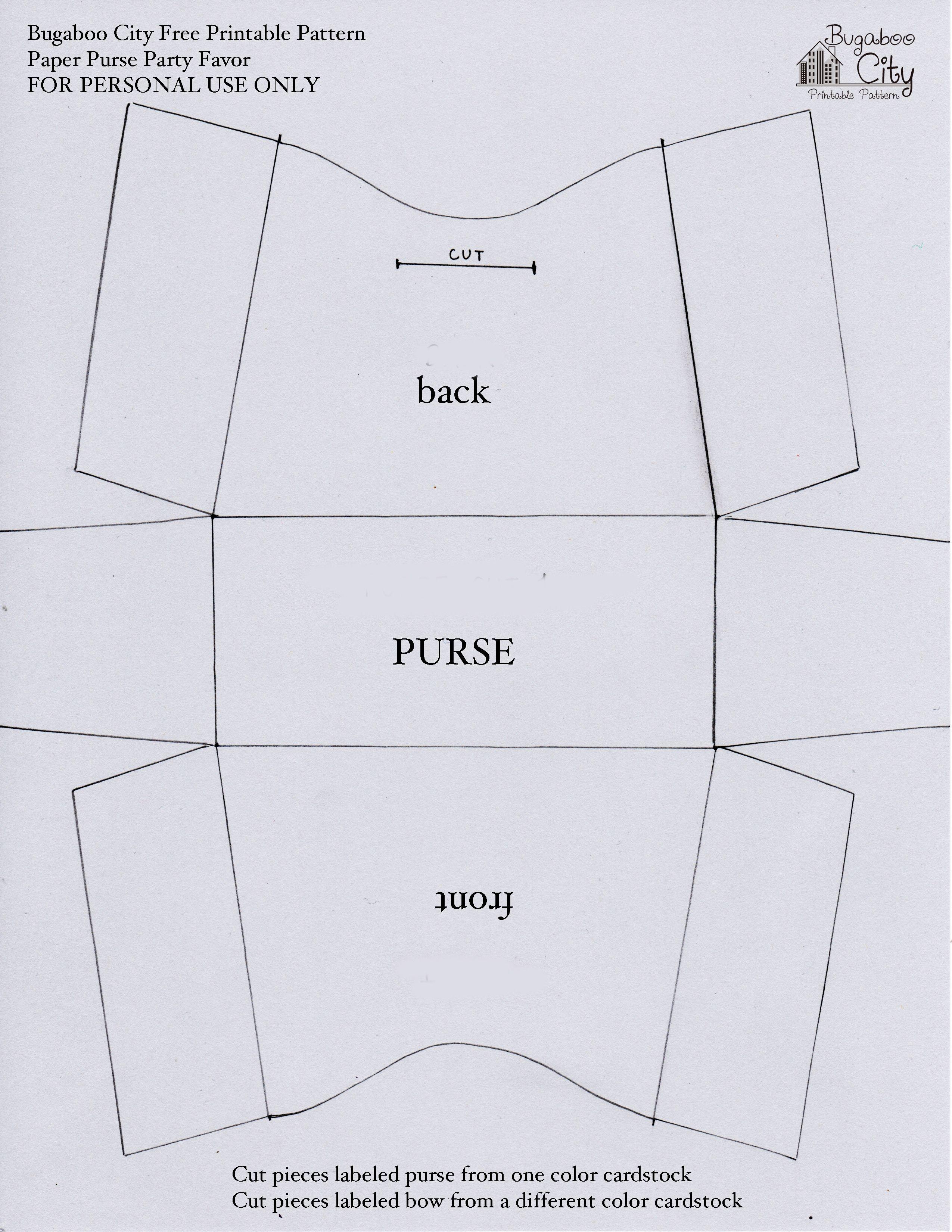 Free Printable Paper Purse Patterns   Felt   Leather Bag Pattern - Handbag Patterns Free Printable