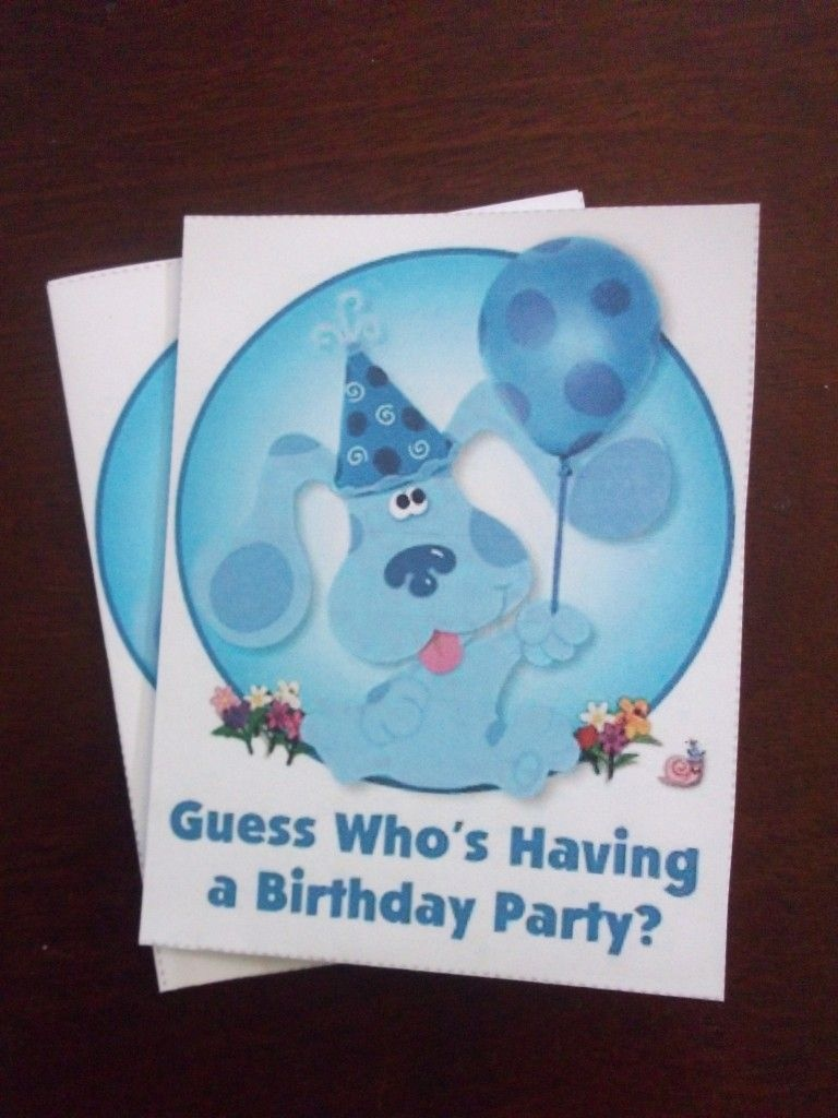 Free Printable Part Invites Link, I Also Like The Idea Of Putting A - Blue's Clues Invitations Free Printable
