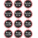 Free Printable Pdf // Bridal Shower Cupcake Toppers, Red Damask   Free Bridal Shower Printable Decorations