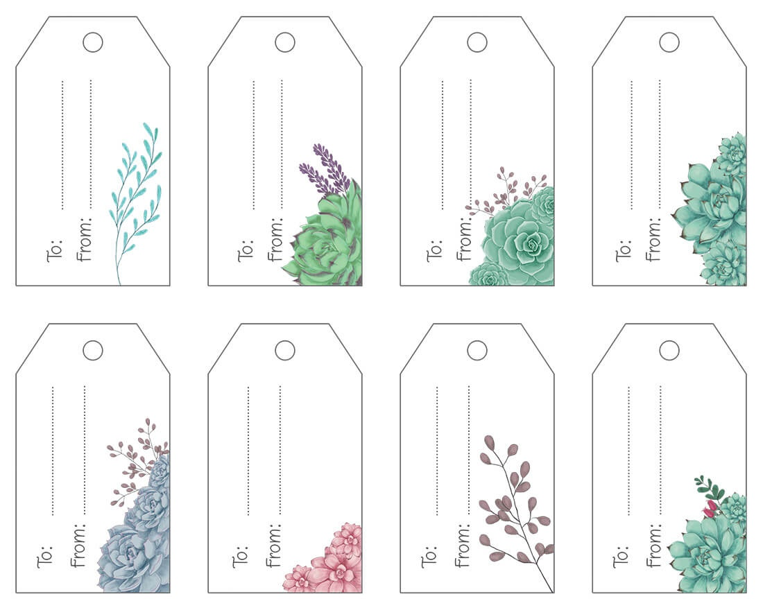 Free Printable .pdf Gift Tags   Maggie Stilwell Design - Free Printable To From Gift Tags