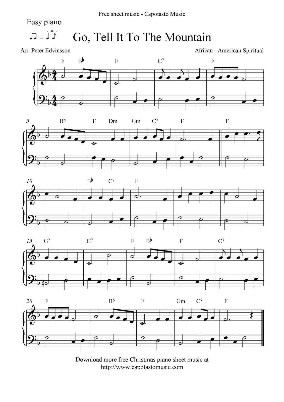 Free Printable Piano Sheet Music | Free Sheet Music Scores: Easy - Free Printable Christmas Sheet Music For Piano