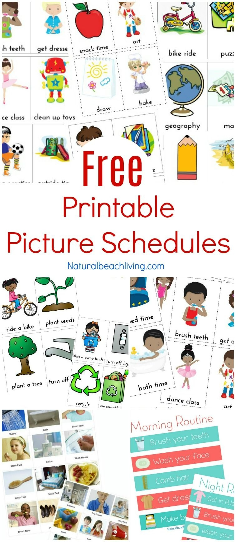 Free Printable Picture Schedule Cards - Visual Schedule Printables - Free Printable Schedule Cards