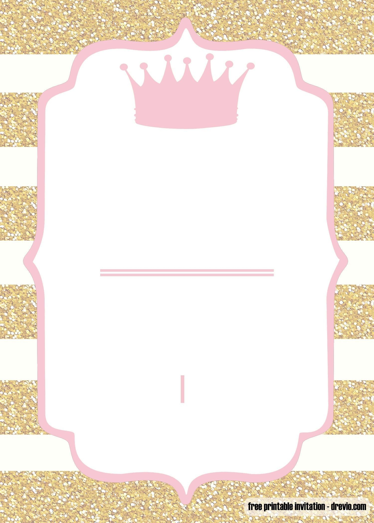 Free Printable Pink And Gold Baby Shower Invitation   Baby - Free Printable Blank Baby Shower Invitations