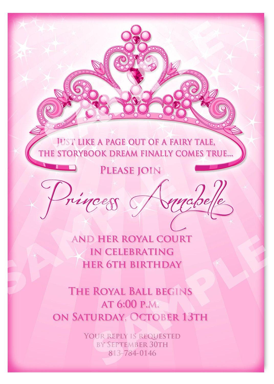 Free Printable Princess Birthday Invitation Templates | Kids - 21St Birthday Invitation Templates Free Printable