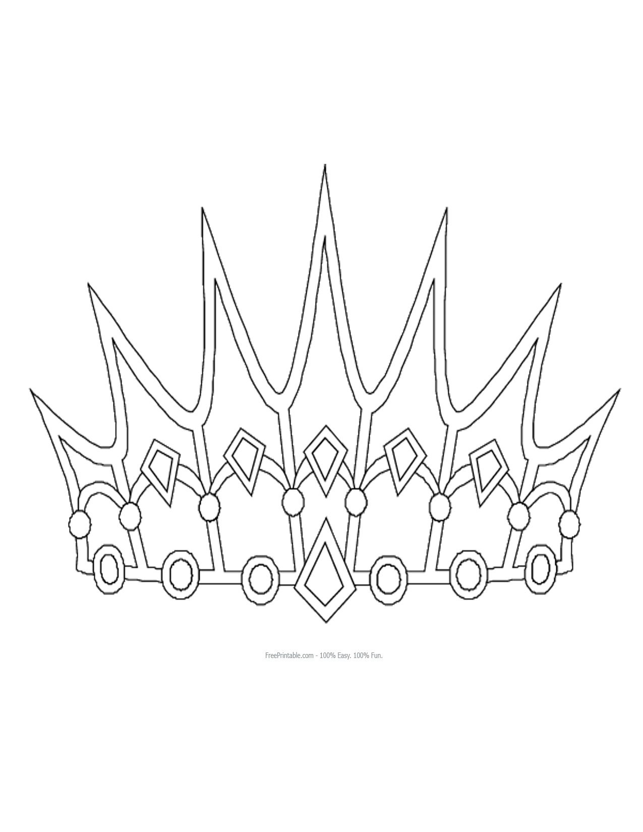 Free Printable Princess Crown Shapes | Print - Princess Crown | 3D - Free Printable Crown