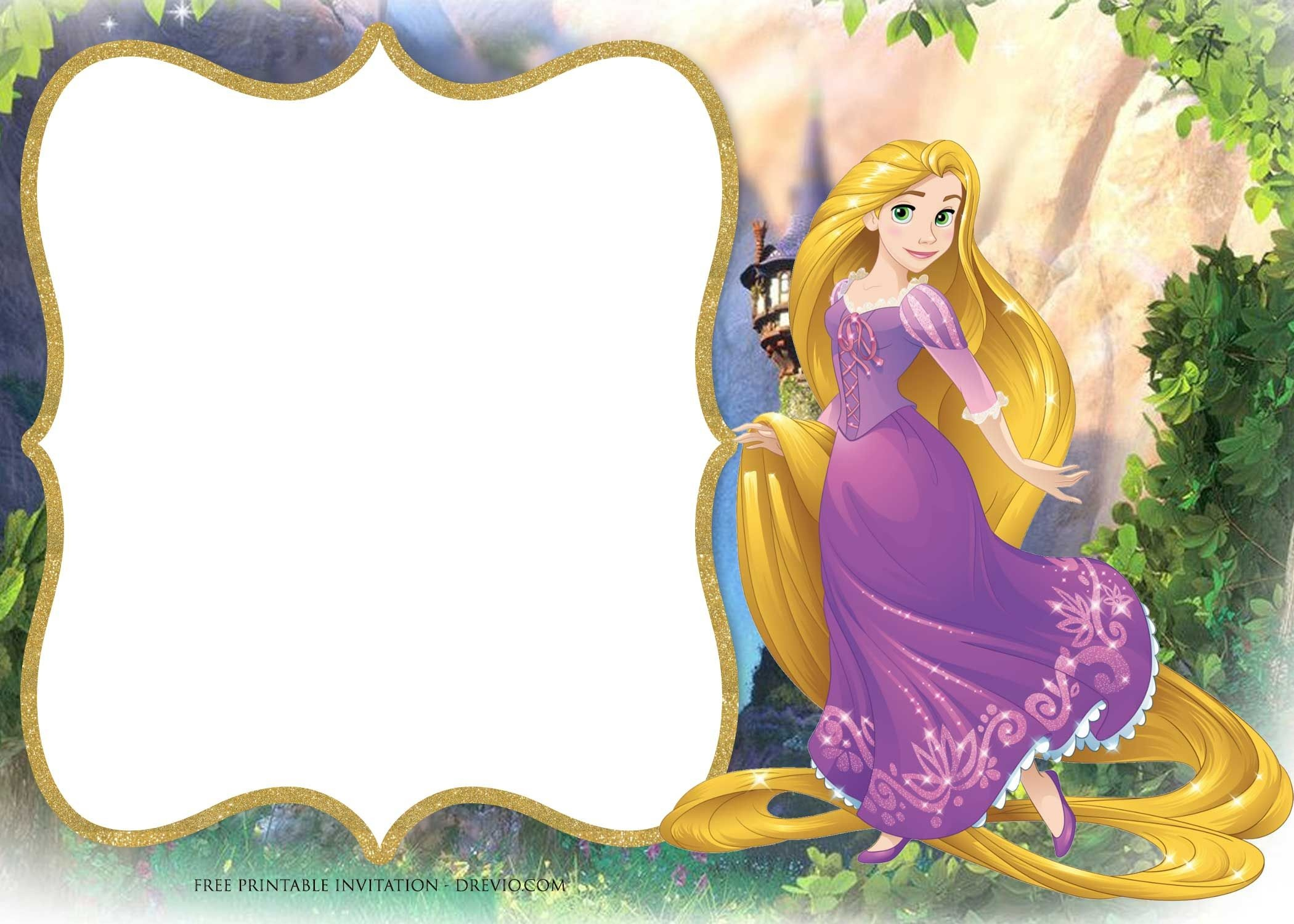 Free Printable Princess Rapunzel Invitation Templates | Free - Free Printable Tangled