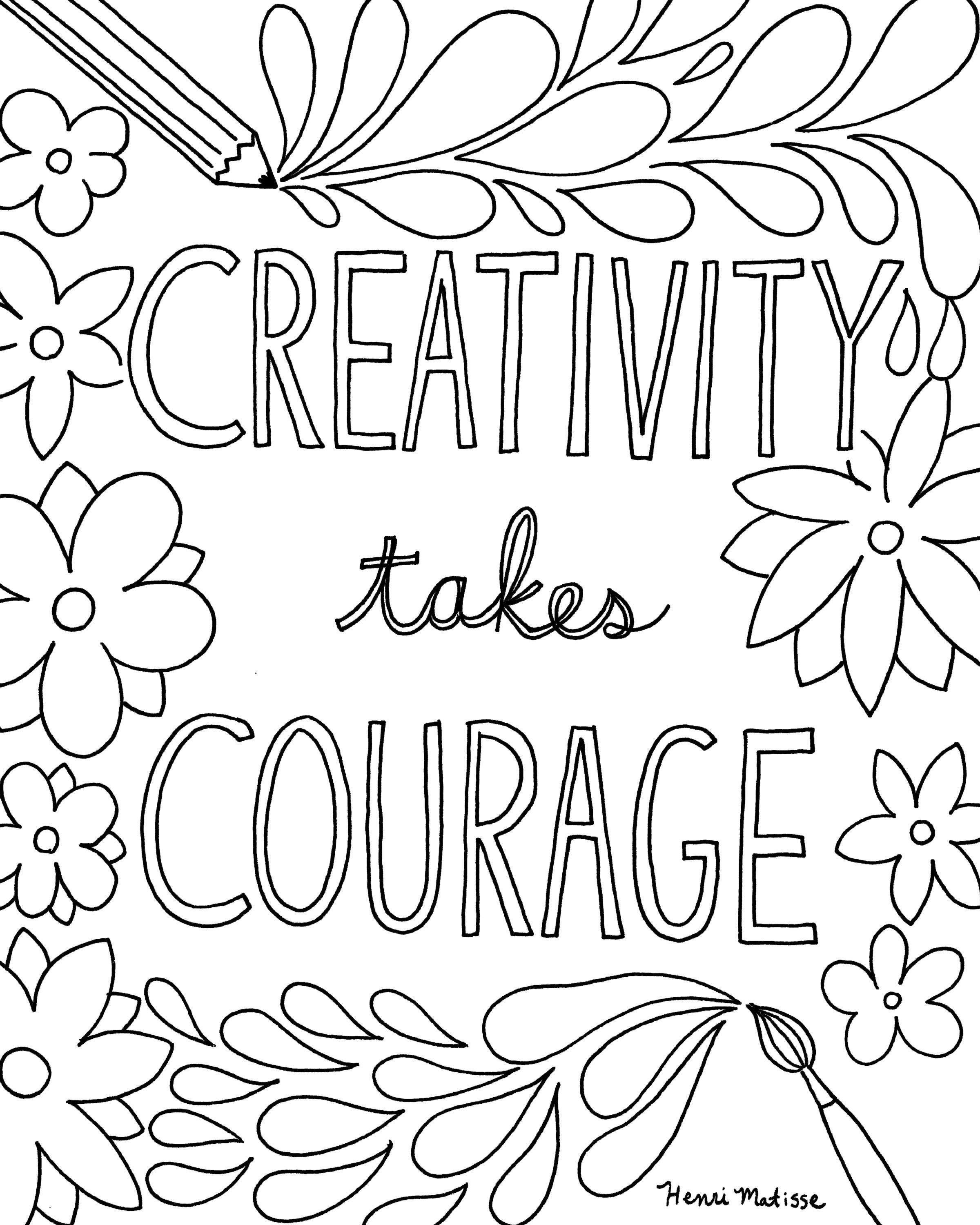 Free Printable Quote Coloring Pages For Grown-Ups | Drawing And - Www Free Printable Coloring Pages
