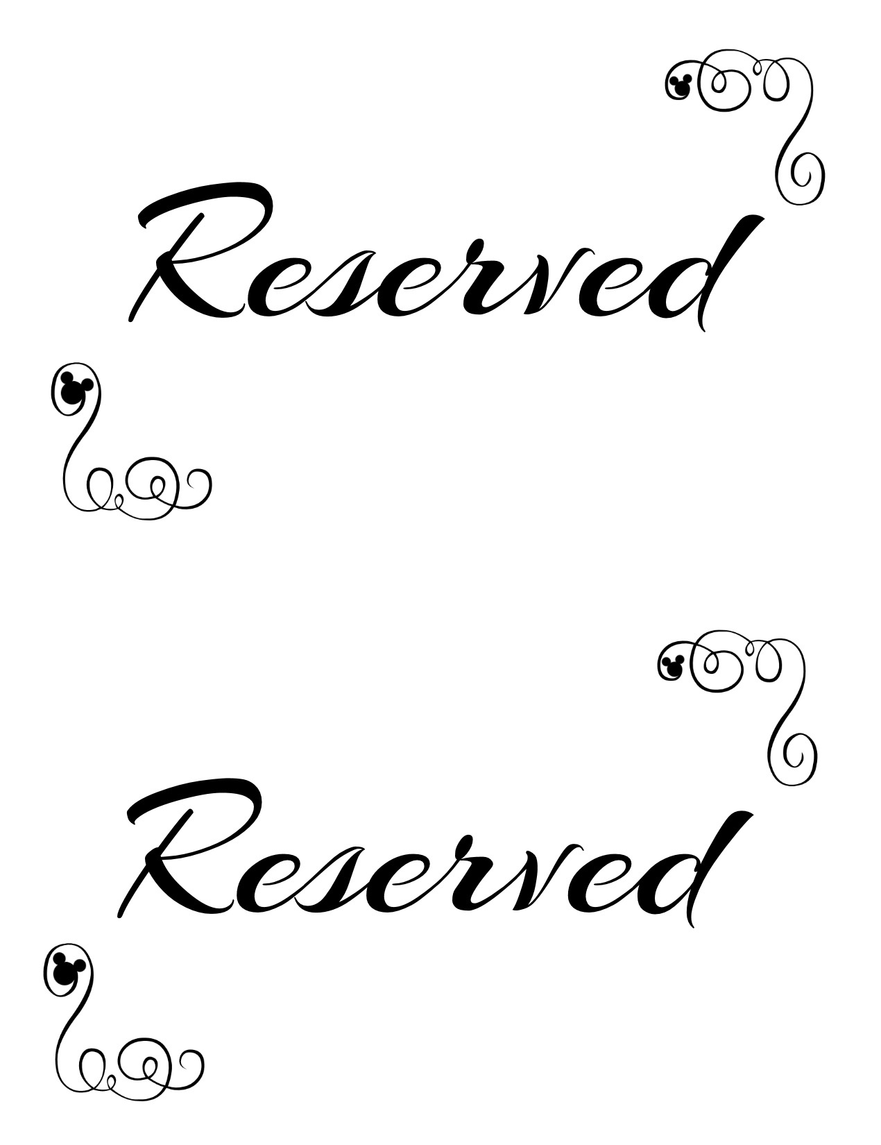 Free Printable Reserved Seating Signs For Your Wedding Ceremony - Free Printable Wedding Signs