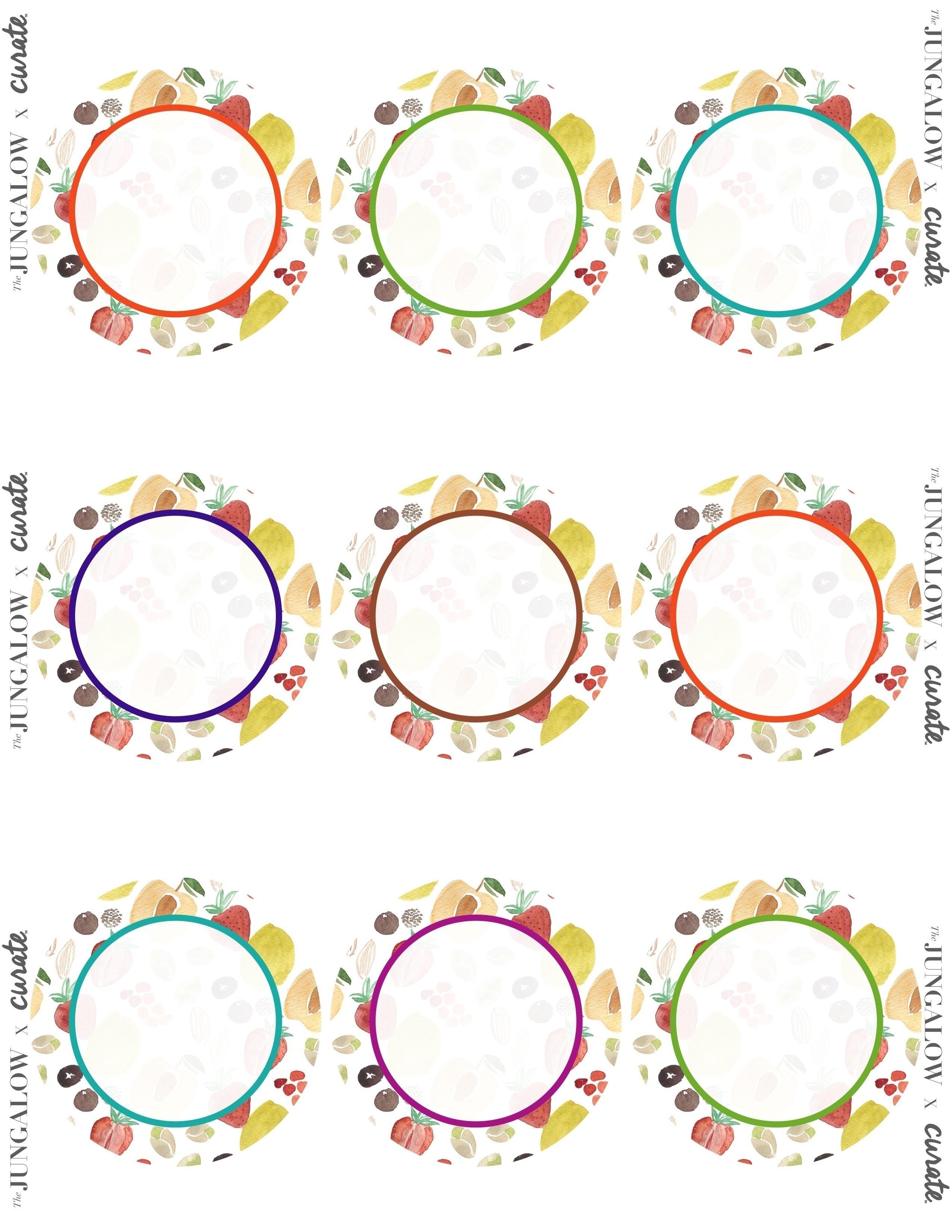 Free Printable Round Label Templates | World Of Label - Free Printable Label Templates